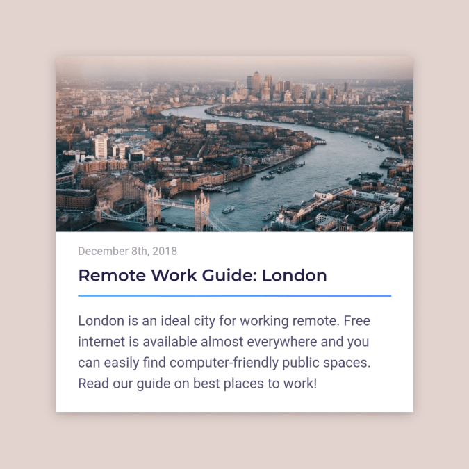 Remote work guide for London